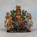 Small Coloured Coat of Arms Wall Plaque Royal Warrant Crest British